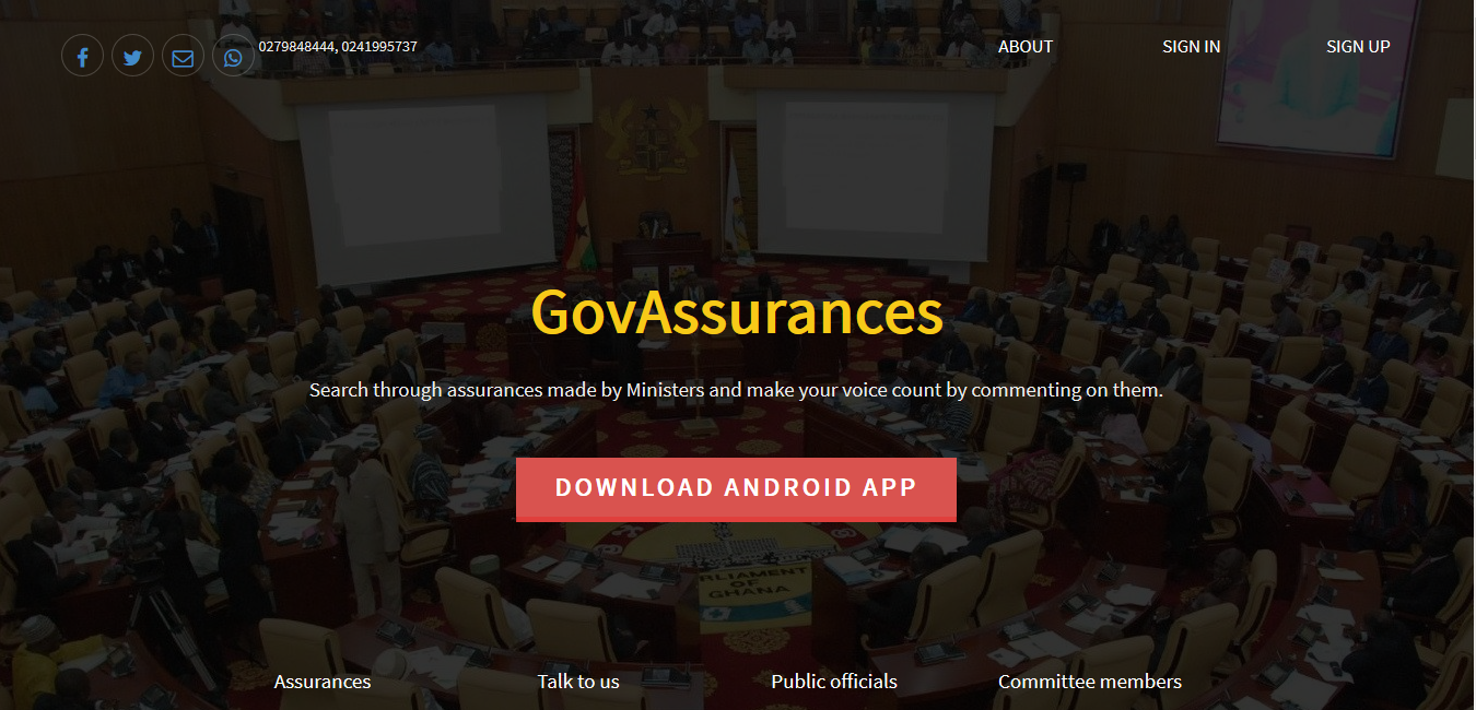 Connecting Citizens to Parliament of Ghana through New Digital Technologies