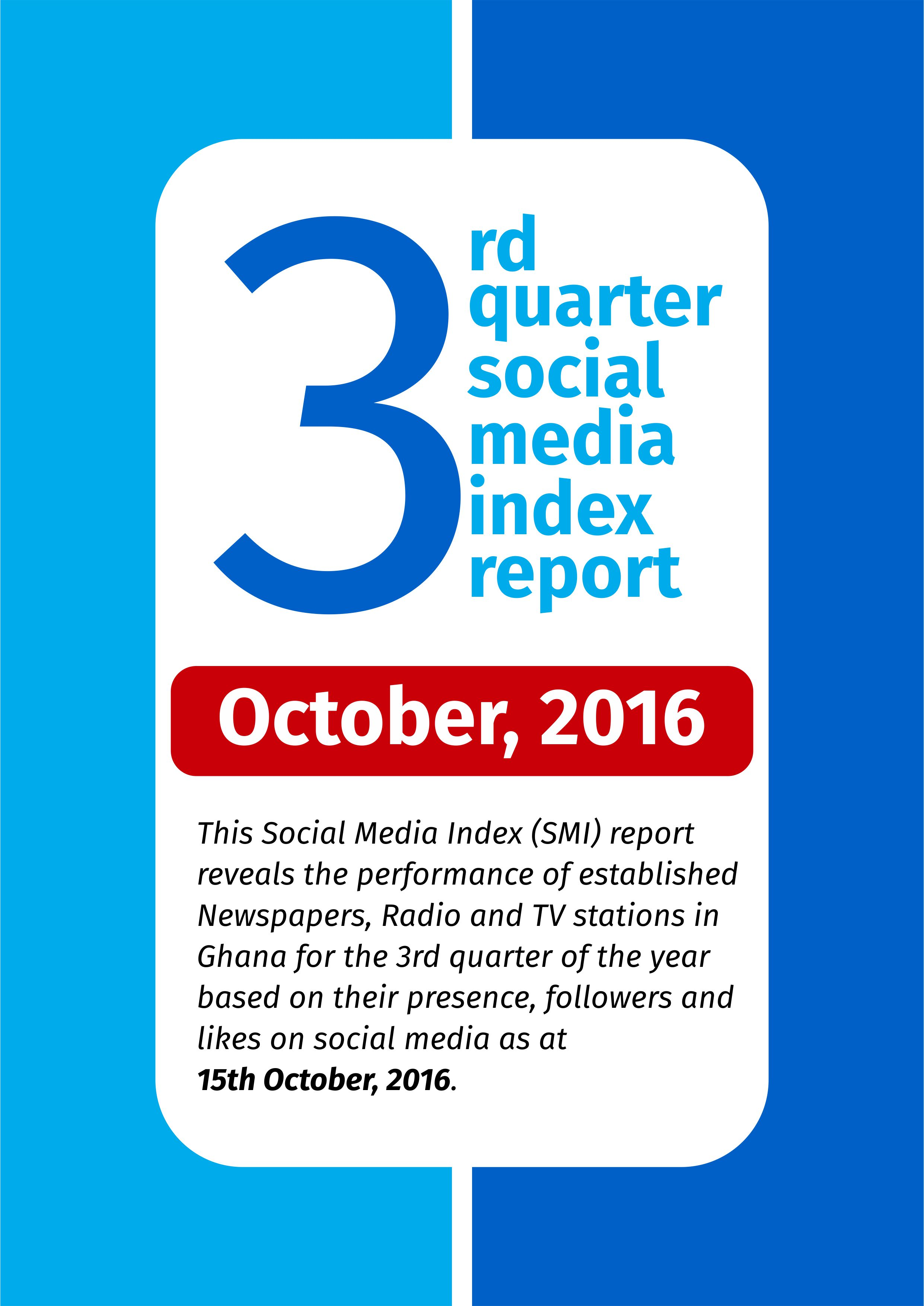 3rd Quarter Social Media Index Report  – October 2016