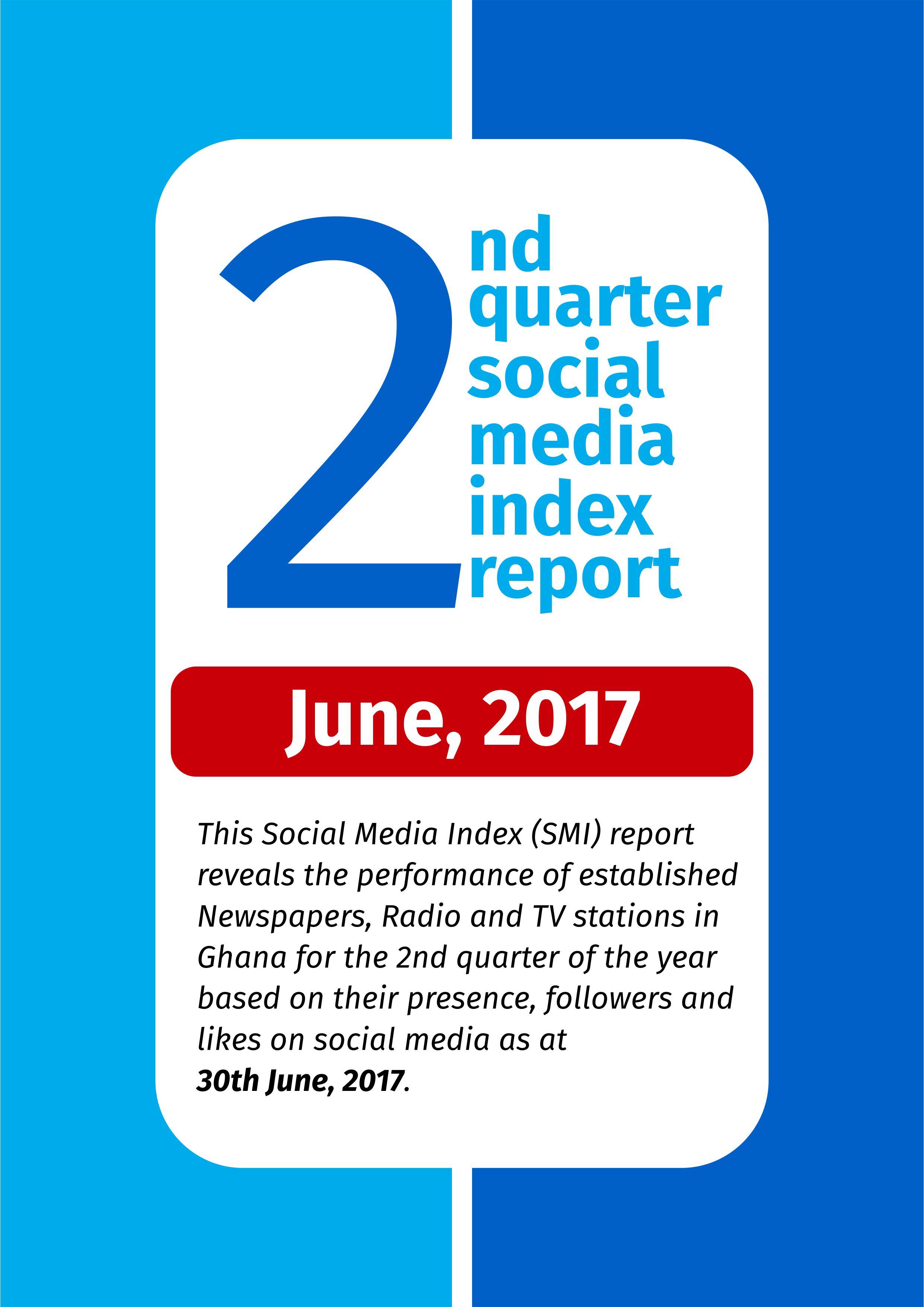 2ND QUARTER SOCIAL MEDIA INDEX REPORT- JUNE 2017