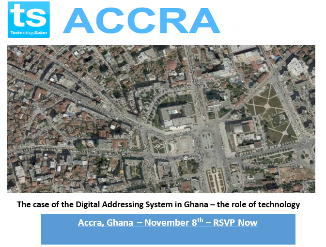 RSVP: Accra Tech Salon- The case of the Digital Addressing System in Ghana – the role of technology