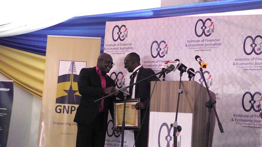 Penplusbytes' Kwami Ahiabenu II honoured at Flamingo Awards