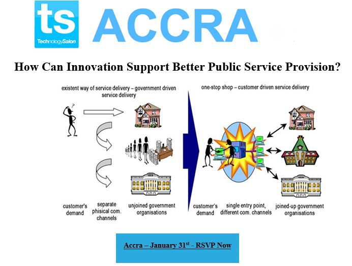 """RSVP NOW: January Tech Salon on """"How can Innovation Support Better Public Service Provision?"""""""