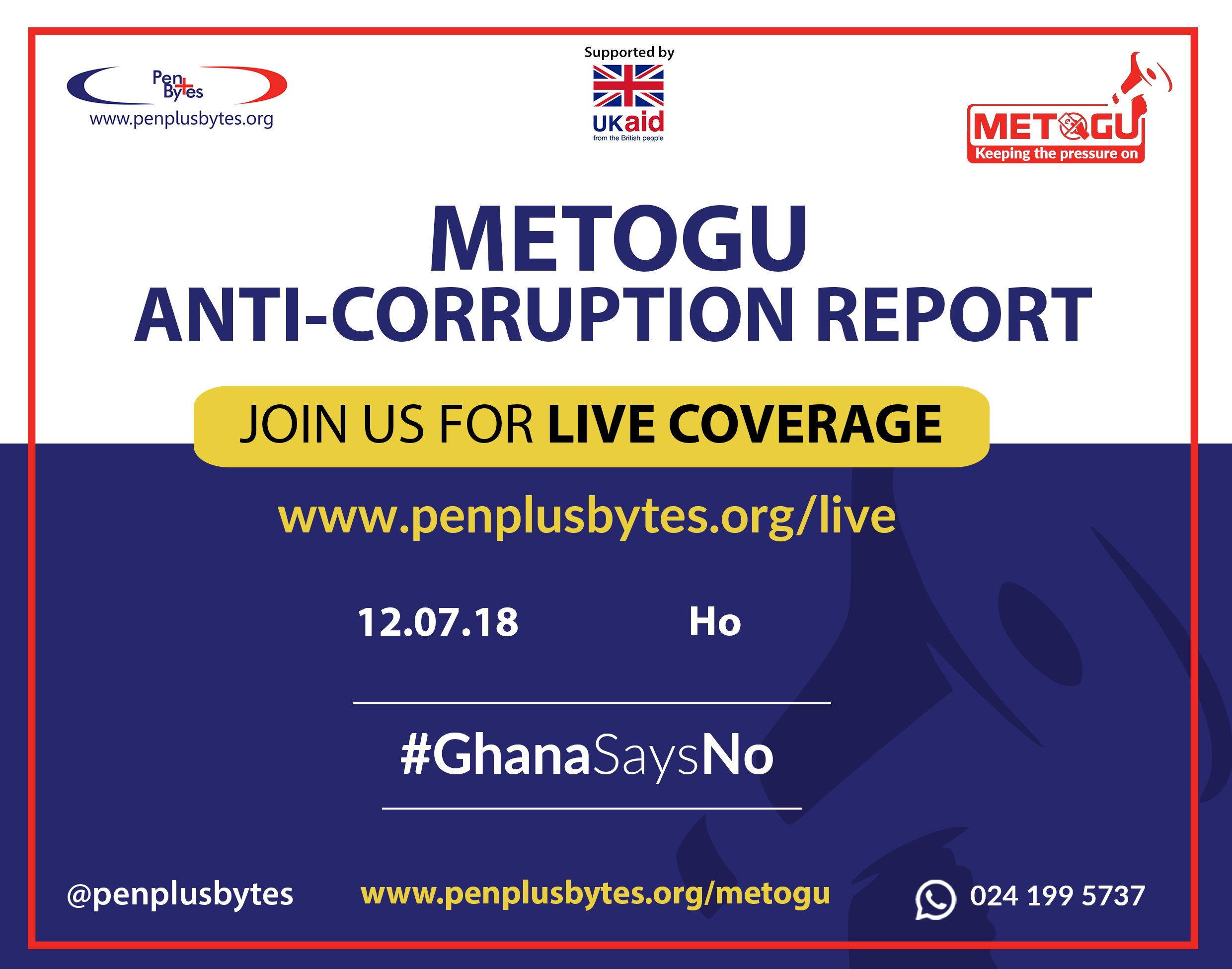 """""""Government is not committed to passing the Right to Information Bill before the end of 2018,"""" Volta Regional Penplusbytes Metogu Report"""