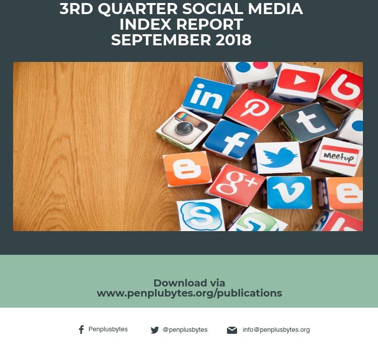 3RD QUARTER SOCIAL MEDIA INDEX REPORT – SEPTEMBER 2018
